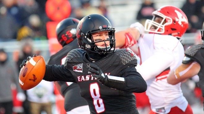 Eastern Washington junior quarterback Gage Gubrud will need to have another huge year to help the Eagles compete with North Dakota for the Big Sky title. - EWU ATHLETICS