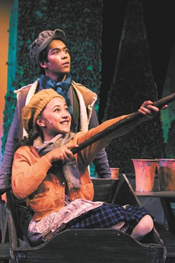 Christopher Tamayo as Dickon and Noelle Fries as Mary Lennox. - ZACHARY BROMMER