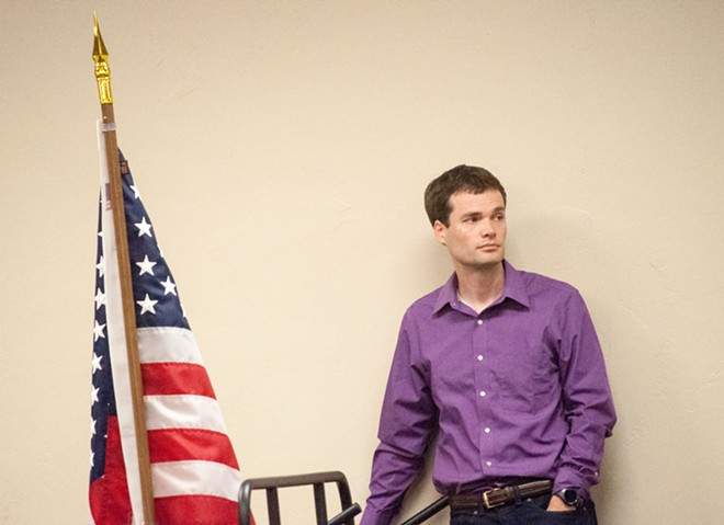 Andrew Biviano, chair of the Spokane County Democrats, has been pushing to get the party out from under the cloud of Public Disclosure Commission issues. - DANIEL WALTERS PHOTO
