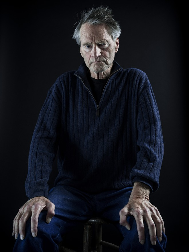 """Sam Shepard on a day of rehearsal for his play """"Buried Child,"""" which won the Pulitzer Prize in 1979, at a studio in New York, Jan. 22, 2016. Shepard, the celebrated avant-garde playwright and Oscar-nominated actor, died in his Kentucky home on July 27, 2017, of complications from Lou Gehrig's disease, a family spokesman confirmed. He was 73. - CHAD BATKA/THE NEW YORK TIMES"""