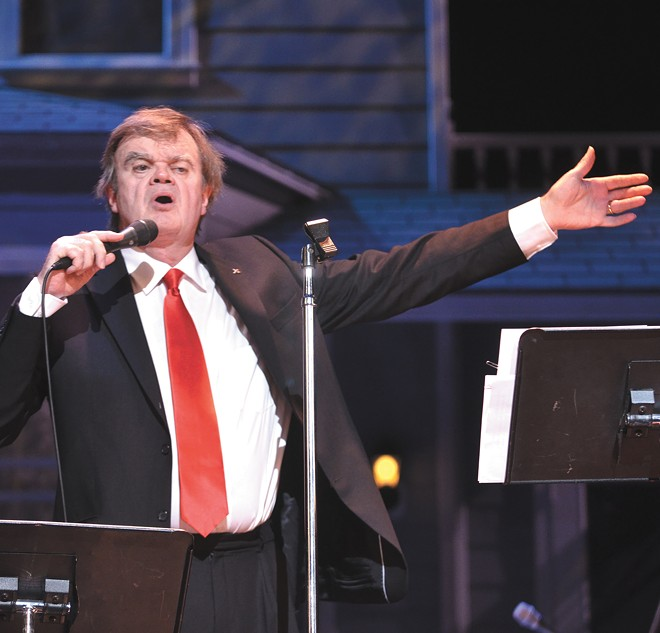 "Describing his current tour, Keillor says: ""It's a variety show, but without the guest acts."""