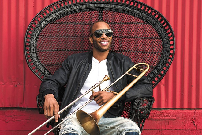 Troy Andrews, aka Trombone Shorty, brings a bit of the Big Easy to Spokane on Sunday night.