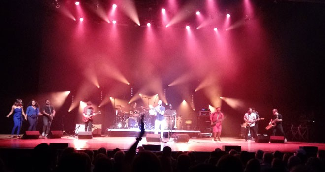Trombone Shorty and Orleans Avenue filled the Fox's stage on Sunday night. - DAN NAILEN