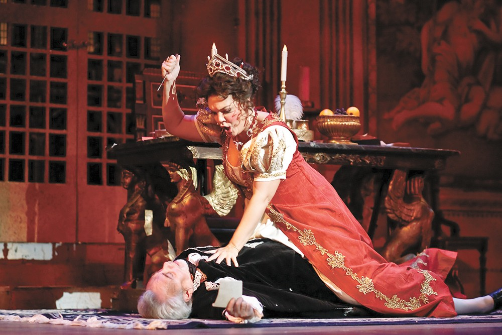 Jill and Jake Gardner, husband and wife offstage, play opposite each other in Tosca.