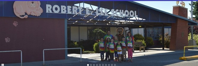"""Wenatchee's Eastmont School District had the debate over changing the name of Robert E. Lee Elementary School two years ago; it decided to keep the name as is. """"""""That's part of our history,"""" said Superintendent Garn Christensen. - ROBERT E. LEE ELEMENTARY SCHOOL WEBSITE"""