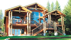 Nestled on the forested lake shore, the Clearwater Lodge hosts meals and gatherings all year round.