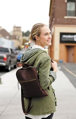 Hustle & Hide's Terri Cripps models the Hustler Zipper Pack. - YOUNG KWAK