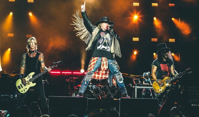Guns N' Roses headline the Gorge on Sunday, Sept. 3.