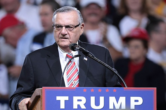 Joe Arpaio speaking at a Donald Trump campaign rally in Phoenix, Arizona. - GAGE SKIDMORE PHOTO