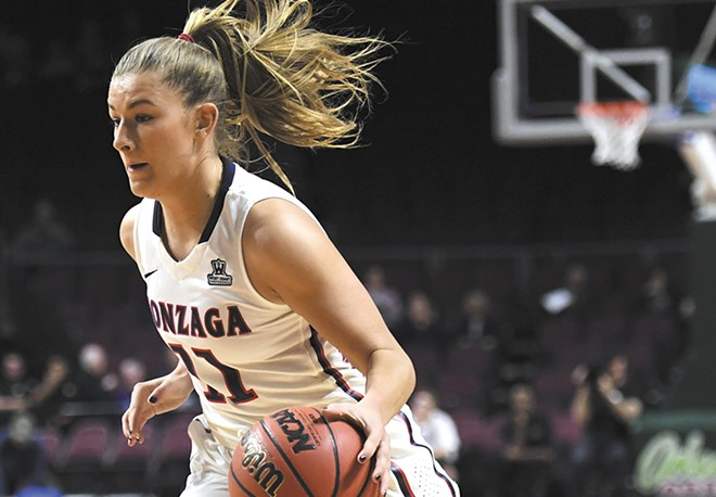 With any luck, Laura Stockton and the Zags will make it to the NCAA tourney regional hosted in Spokane. - KYLE TERADA