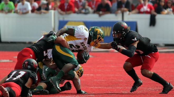 Ty Brooks and North Dakota State ran all over the Eagles, roiling up 375 rushing yards in the Bison's 40-13 victory. - EWU ATHLETICS