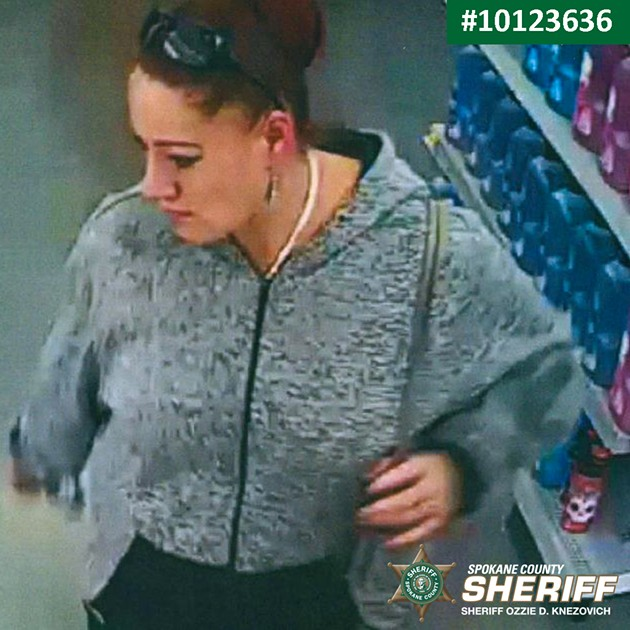 Suspect in theft from Freeman parent's vehicle - SPOKANE COUNTY SHERIFF'S OFFICE PHOTO