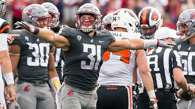 WSU pummeled the Beavers in Pullman on Saturday in the Cougars' Pac-12 opener. - WSU ATHLETICS