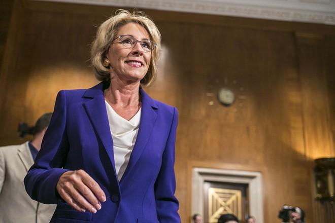 Betsy DeVos, Donald Trump's education secretary - AL DRAGO/THE NEW YORK TIMES