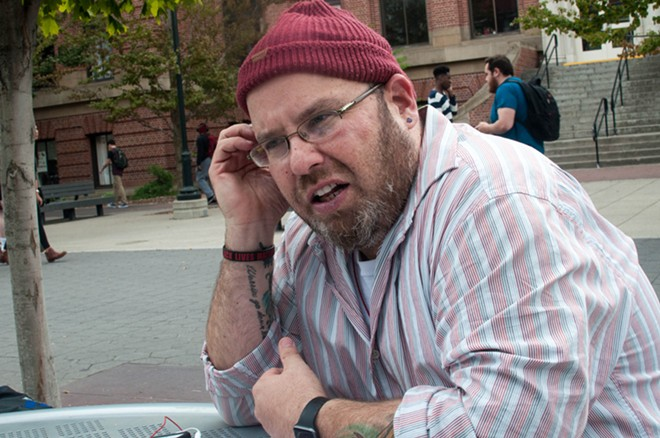 David Leonard, a professor in Washington State University's Department of Critical Culture, Gender, and Race Studies, says the rise of viral right-wing media sites have left some faculty members wary about speaking out. - DANIEL WALTERS PHOTO
