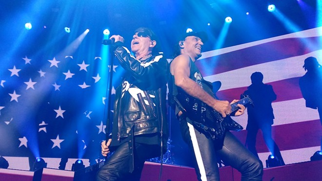 The Scorpions' Klaus Meine (left) and Matthias Jabs - DAN NAILEN