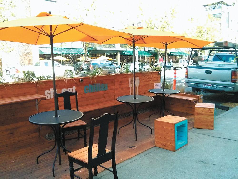 Parklets will be allowed April 1 to Nov. 1.  CHEY SCOTT photo
