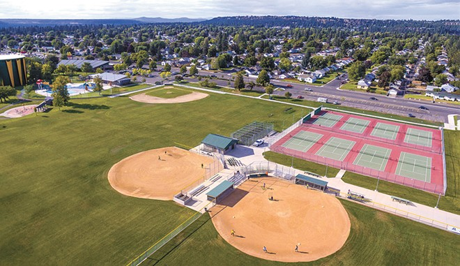 The view of Shadle Park looking northwest from Shadle Park High School. - FRANKIE BENKA PHOTO