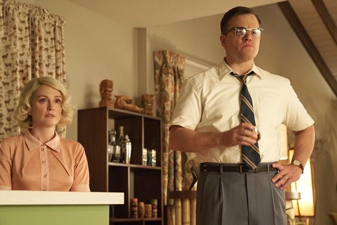 Julianne Moore and Matt Damon in George Clooney's Suburbicon.