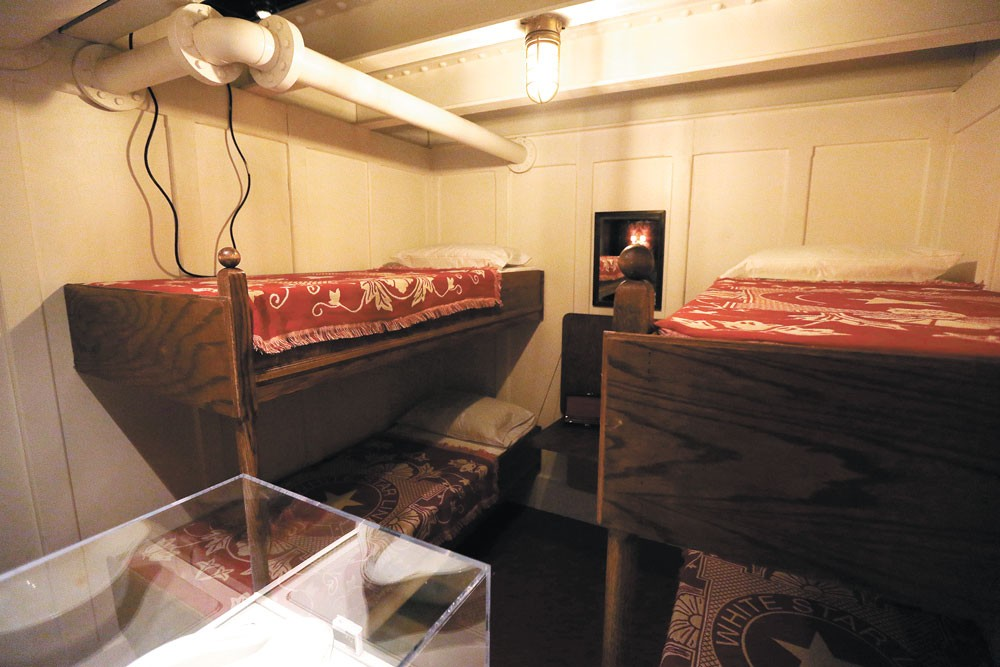 A replica third-class cabin is part of Titanic: The Artifact Exhibition. - YOUNG KWAK