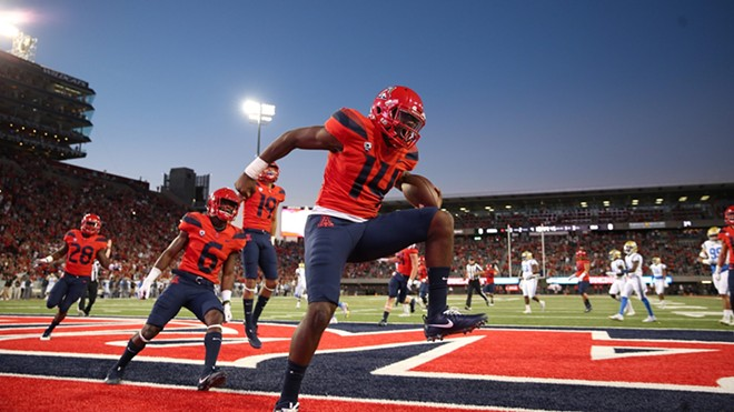 Arizona quarterback Khalil Tate wants to dance all over Washington State's defense the way he has against Colorado, UCLA and Cal this month; the Pac-12's breakout star ran for 694 yards and seven touchdowns in the three victories. - UA ATHLETICS