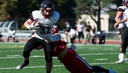 Mason Elms ran all over Pacific in Whitworth's third conference victory this season. - PACIFIC UNIVERSITY ATHLETICS
