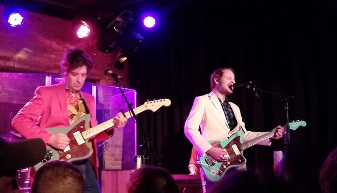 Deer Tick's Ian O'Neil (left) and John McCauley rocked the Bartlett on Thursday night. - DAN NAILEN