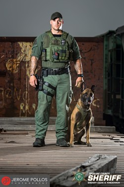Deputy Tyler Kullman and K9 Khan - COURTESY OF THE SPOKANE COUNTY SHERIFF'S OFFICE