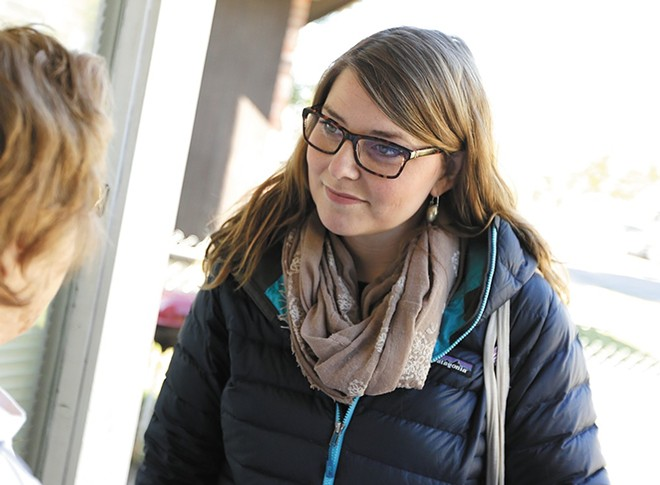 At 28, Kate Burke will become the youngest member of the Spokane City Council. She received nearly 60 percent of the vote in northeast Spokane's District 1; her election maintains the council's six-member liberal majority. - YOUNG KWAK PHOTO