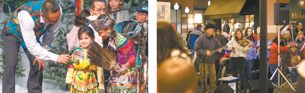 LEFT: Winter Blessing features storytelling, dance, drumming and reflection. RIGHT: Ring in the New Year with Spokane's First Night.