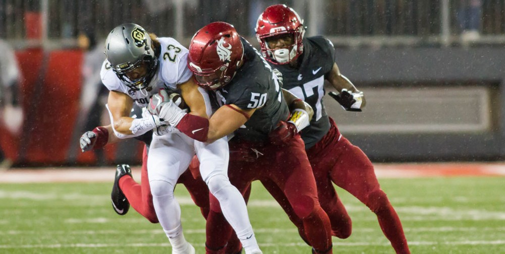 Cougar Hercules Mata'afa is an unparalleled force on the defensive side of the ball. - WSU ATHLETICS