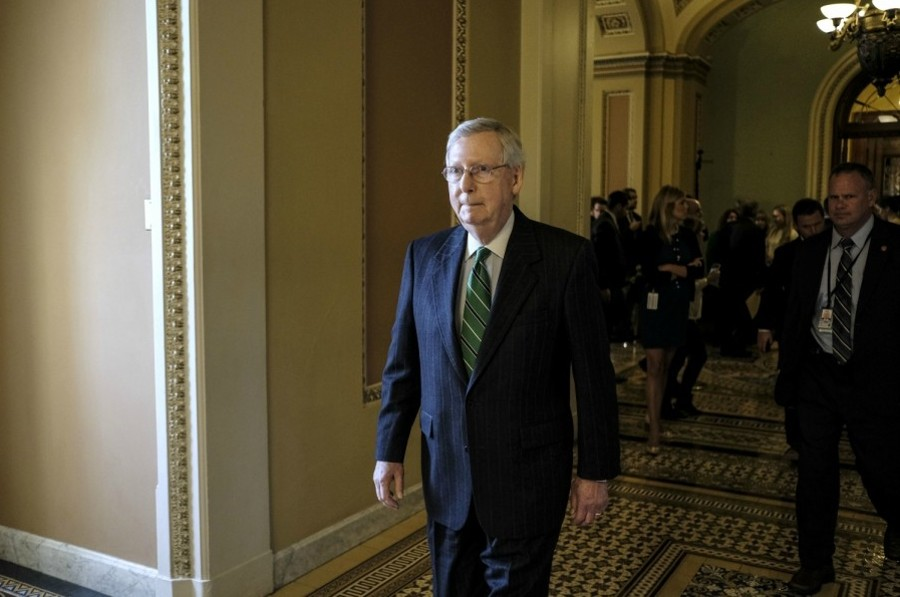 Senate Majority Leader Mitch McConnell on Capitol Hill in Washington on Oct. 31, 2017. - GABRIELLA DEMCZUK/THE NEW YORK TIMES