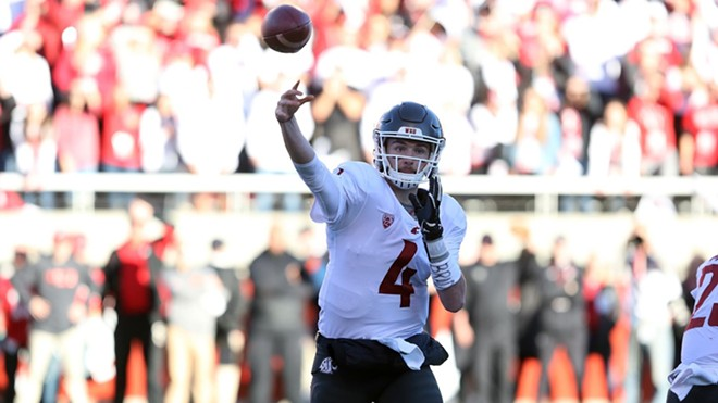 Luke Falk, the Pac-12's all-time leader in passing yards (14,112) and touchdown passes (118), takes his third and final shot at beating Washington on Saturday at Husky Stadium; a victory would give WSU the North Division title. - WSU ATHLETICS