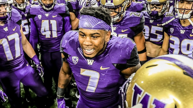 Senior linebacker Keishawn Bierria and the rest of the Washington defense have had their way with the Cougars lately, winning four consecutive Apple Cups and holding Washington State's Air Raid offense to an average of 14 points. - UW ATHLETICS