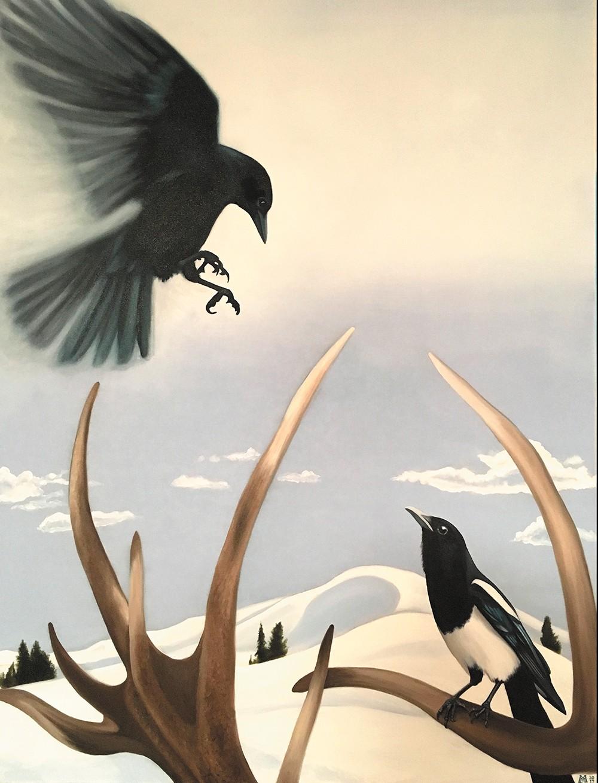 A piece by Megan Marten-Haworth from Bringing It Home at Kolva-Sullivan Gallery.
