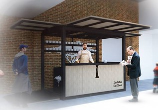 Indaba's third location, opening in Kendall Yards sometime next year, will feature a walk-up outdoor counter. - UPTIC STUDIOS