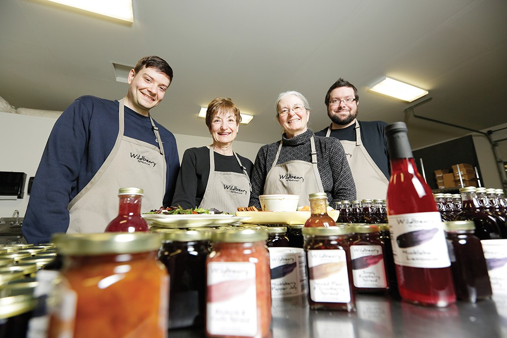 As a family business, Shaver Farms relies on the varied talents of co-owners Lori Mayfield (second from left) and Charlene Shaver, as well as Shaver's sons Matthew (left) and Tom. - YOUNG KWAK