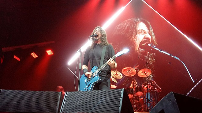 Foo Fighters' Dave Grohl screamed for a solid three hours Monday night at Spokane Arena. - DAN NAILEN
