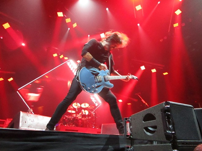 Grohl spent the majority of the Foo Fighters' show in full thrash-rock mode. - DAN NAILEN