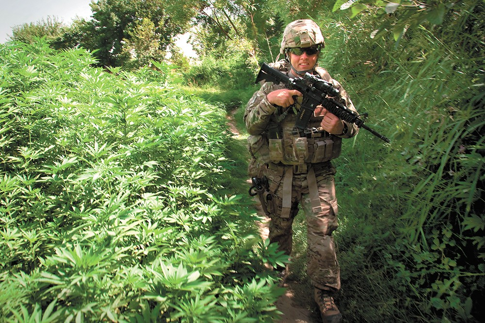 Expect to see a few more smiling soldiers thanks to the military loosening rules on past marijuana use. - U.S. ARMY PHOTO