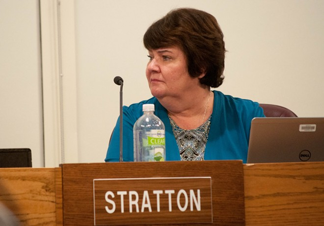 Karen Stratton says she has tried to avoid former M&P president David Lewis after an argument that led to an HR complaint filed against her - DANIEL WALTERS PHOTO