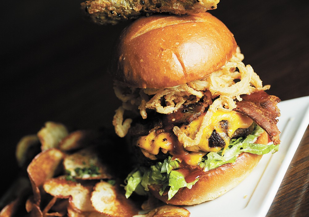 "Downriver Grill serves a different ""Burger of the Moment"" on Wednesdays. - YOUNG KWAK"