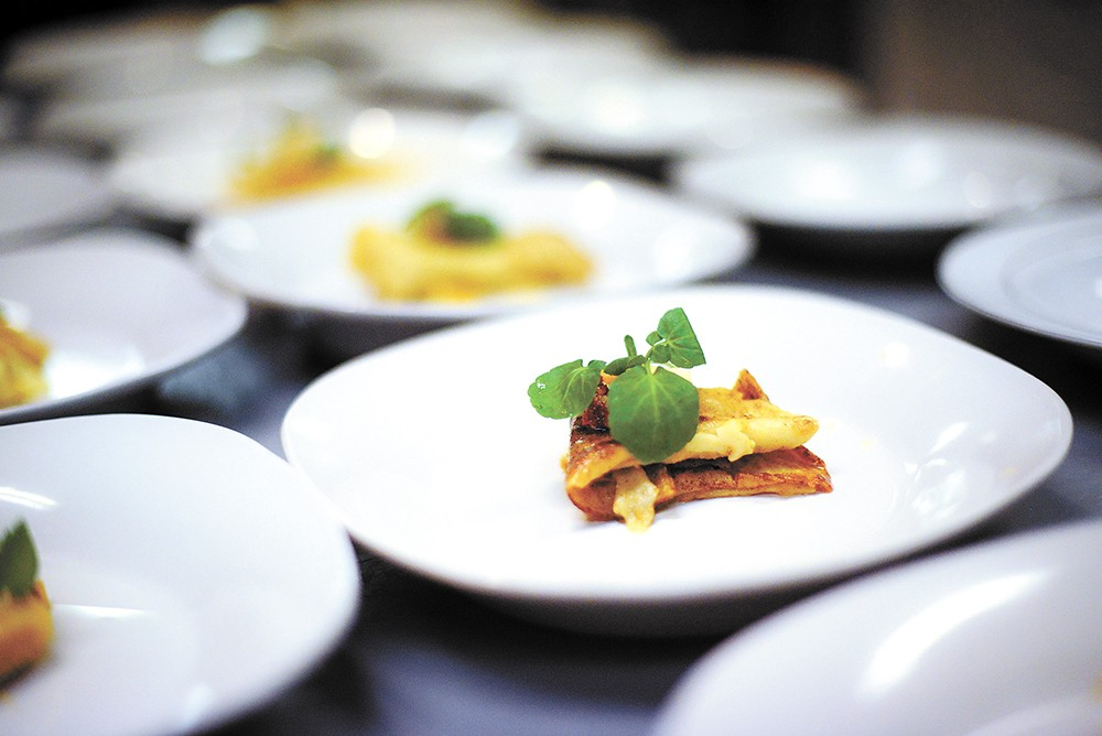 This acorn squash ravioli was on the first One Dinner menu in November. - BRADLEY MARKS