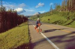 A fully loaded Buddy the Bike in New Zealand, 1988. - SALLY VANTRESS-LODATO PHOTO