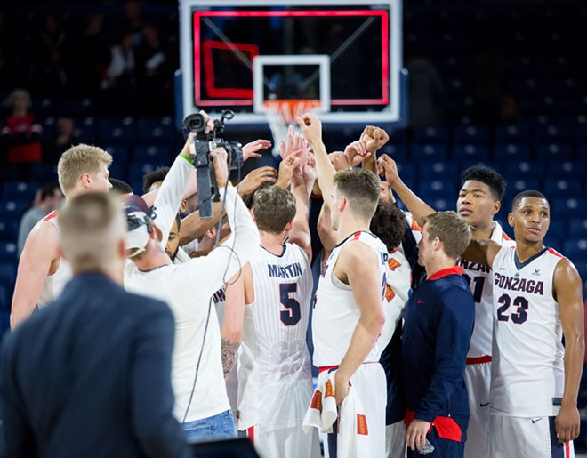 A road trip to Pacific and Saint Mary's this week could decided if Gonzaga wins another WCC regular season title. - LIBBY KAMROWSKI