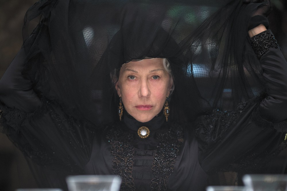 No, we don't know why Helen Mirren is in Winchester, but we're certain she was paid handsomely.