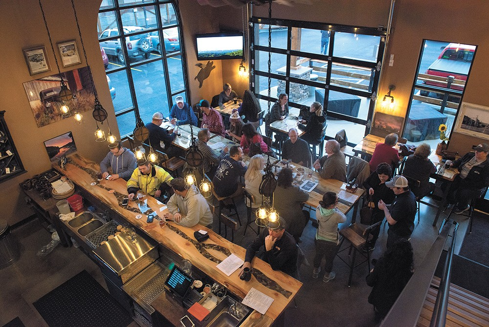 The taproom of the newly-opened Millwood Brewing was part of a $1 million dollar renovation project. - DEREK HARRISON