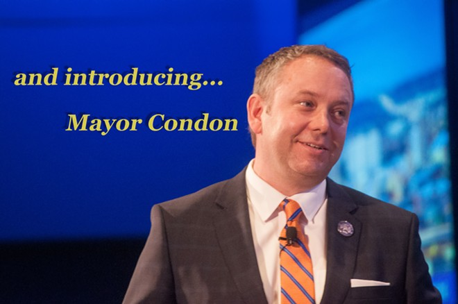 Mayor David Condon will give his State of the City address today - DANIEL WALTERS PHOTO