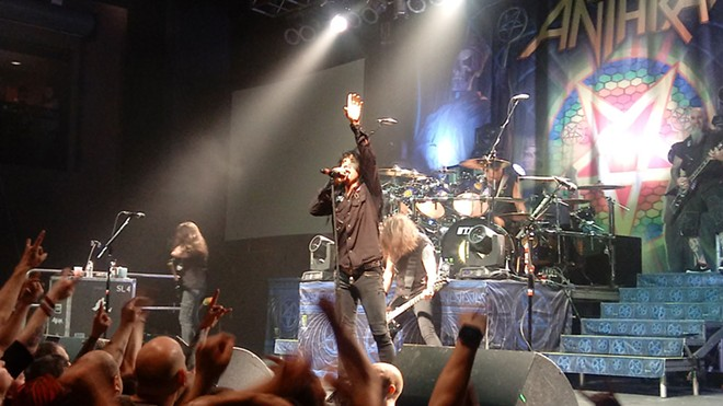Anthrax had the crowd in a frenzy throughout its 70-minute set. - DAN NAILEN