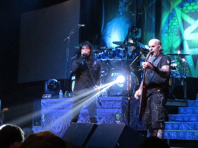 Anthrax's Joey Belladonna (left) and Scott Ian. - DAN NAILEN
